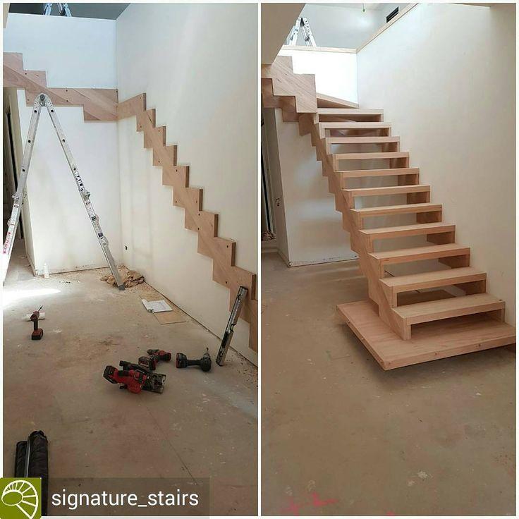 """2,230 Likes, 18 Comments - ⏰ Agora é Hora Engenharia (@agoraehoraengenharia) on Instagram: """"Degrau de escada com desembarque flutuante!🔝🔝. . Crédito para @signature_stairs. .  L-shape stair…"""""""