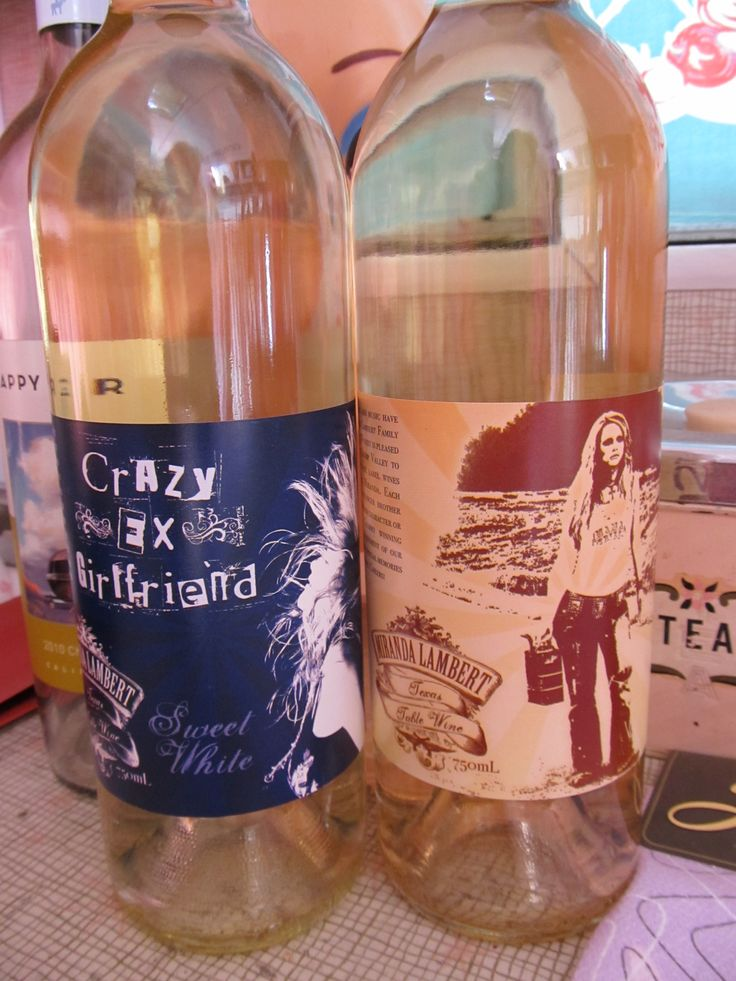 "Miranda Lambert's new wine- ""crazy ex-girlfriend"" and Kerosene, awesome! Tried crazy ex-girlfriend at Texas Reds! It was really good (and I don't drink wine!!)."
