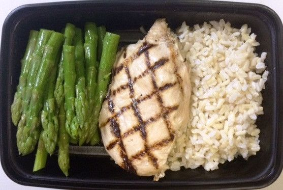 Ready to Eat 4.5 oz. Chicken Breast (post cooked weight) 4 oz. Asparagus 4 oz. Brown Rice For Macro information please click on Nutritional label. Simply put container in microwave for 1.5 to 2 minute