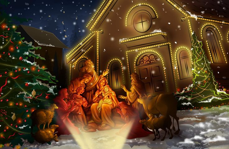 Nativity scene Wallpaper - Christian Wallpapers and Backgrounds