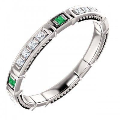 Platinový zásnubný prsteň osadený Smaragd -https://www.smgold.sk/p/1681/mszpl005