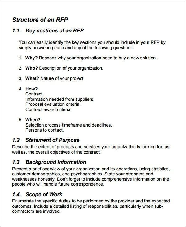 Rfp Template Event Planning Proposal Proposal Templates Event