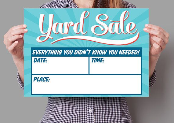 SALE - Original Yard Sale Corrugated Plastic Sign - Fill In the Blanks - Retro / Vintage Aesthetic