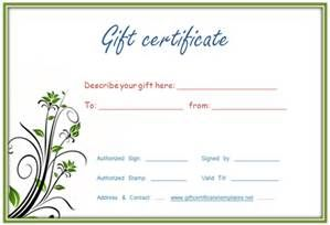 Gift Certificate Template Free Fill - Bing images ...