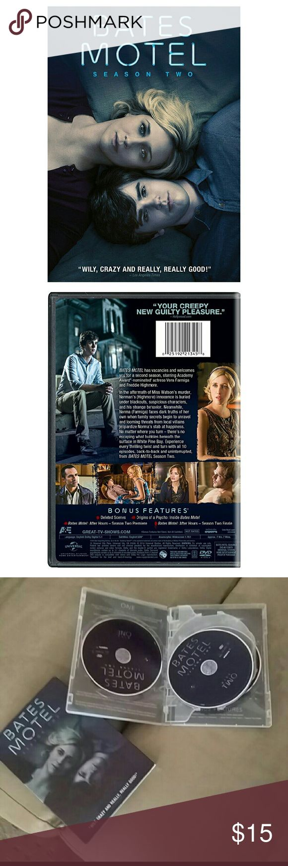 Bates Motel season 2 Bates Motel season 2 It is new however it has been opened it has never been used though Are you in search of this? ISO?  No trades or returns Other