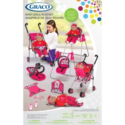 Graco Deluxe Baby Doll Accessory Playset I Wish Mad S