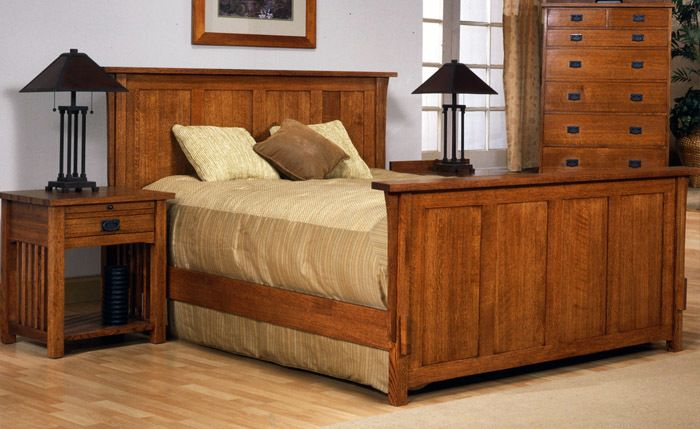 Oak Mission Furniture by Renegade Woodworking - Mission Style Classic Craftsman Panel Bed, $2,199.95 (http://www.oakmissionfurniture.com/mission-style-classic-craftsman-panel-bed/)