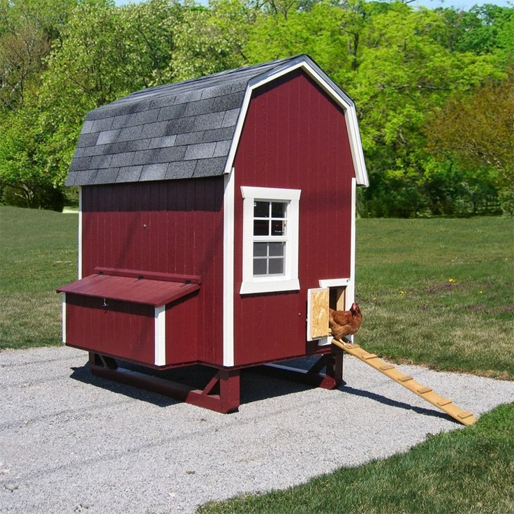 Little cottage unpainted gambrel barn chicken coop small for Gambrel barns for sale