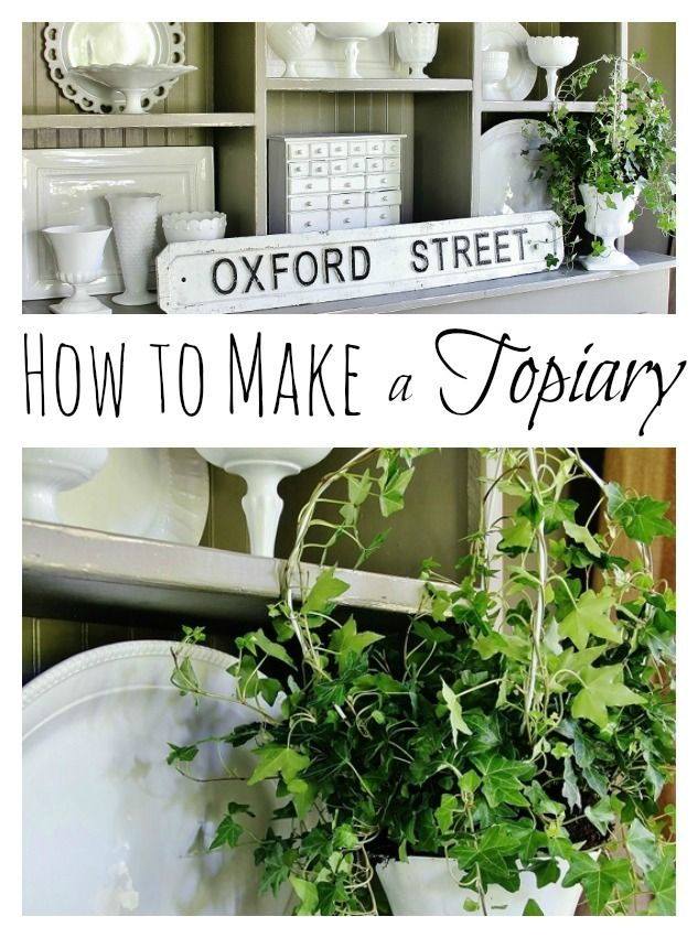 How to make a topiary from a coat hanger in under 30 minutes!  thistlewoodfarms.com