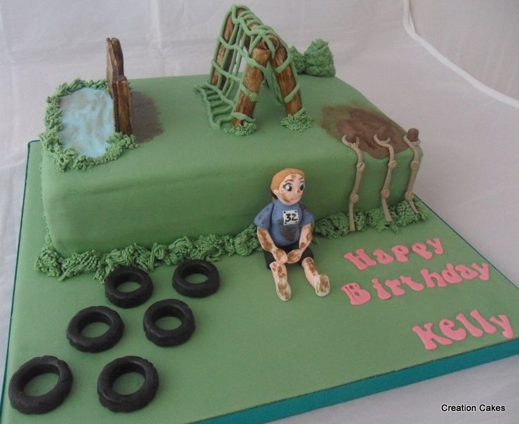 Assault course cake for a fan of this extreme sport! :-) www.creationcakes.org.uk
