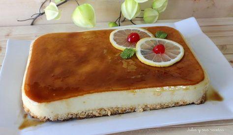 Una tarta que comparten desde el blog JULIA Y SUS RECETAS muy fácil de preparar y muy fresquita.