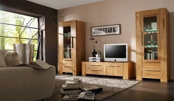 Light Wood Cream Walls Dark Brown Focus Wall With Window Or Large Painting