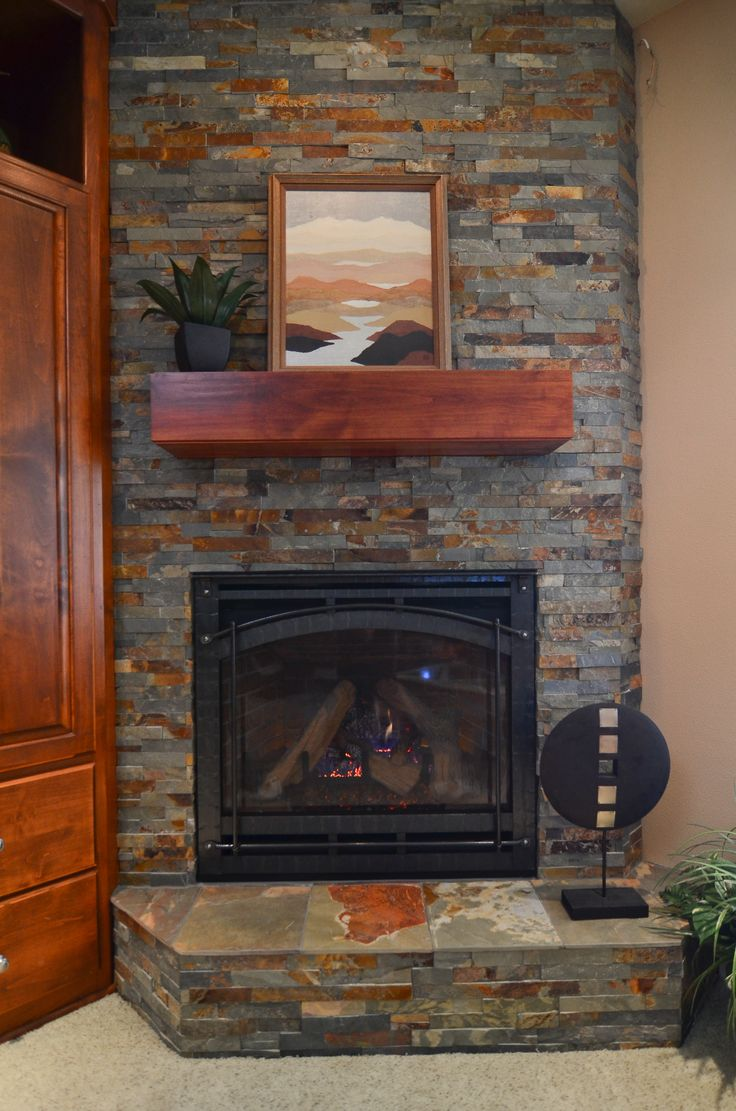 más de 25 ideas increíbles sobre ledger stone fireplace en
