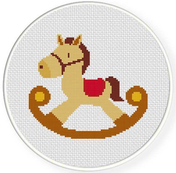 INSTANT DOWNLOAD Rocking Horse PDF Cross Stitch Pattern Needlecraft ----------------------------------------------------- Pattern: