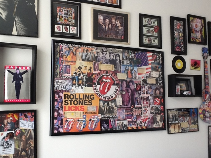 A Section Of My Rock N Roll Room Cool Spaces