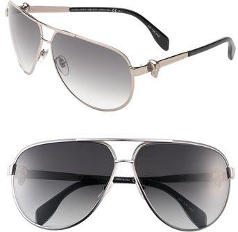 #Alexander McQueen        #Eyewear                  #Alexander #McQueen #65mm #Skull #Temple #Metal #Aviator #Sunglasses #Ruthenium #Size                   Alexander McQueen 65mm Skull Temple Metal Aviator Sunglasses Ruthenium One Size                                                   http://www.seapai.com/product.aspx?PID=5420704