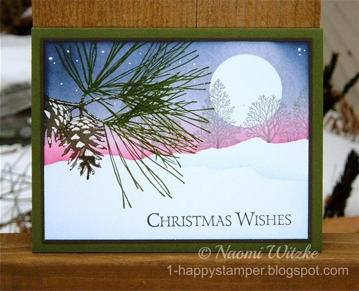 I hope you like my winter night scene!  I'm having fun with this stamp set.  Details on my blog: http://1-happystamper.blogspot.com/2014/12/the-night-before-christmas-ornamental.html