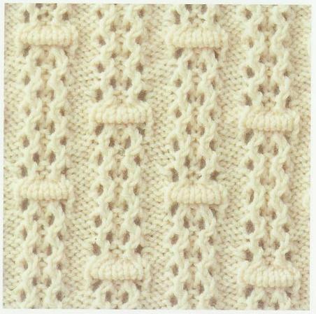 Lace Knitting Stitch #25 pattern and chart on Lace Knitting Stitch at http://laceknittingstitch.blogspot.com.au/2011/08/lace-knitting-stitch-25.html