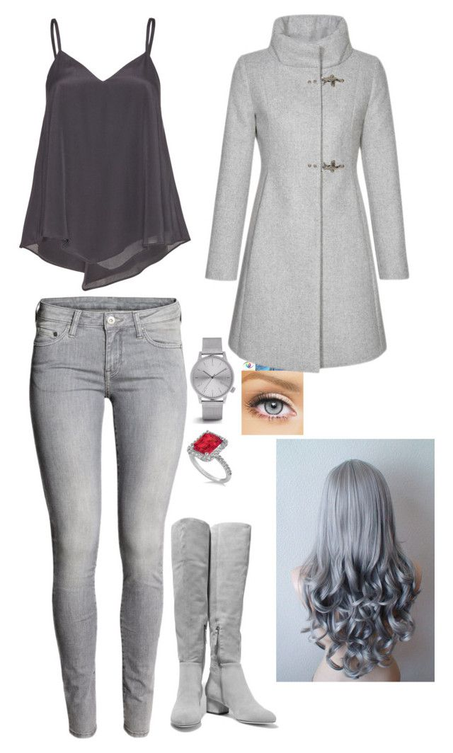 """""""Gandalf the Grey"""" by regan-l-weeks ❤ liked on Polyvore featuring Alice + Olivia, H&M, Komono, Allurez, Halston Heritage and FAY"""