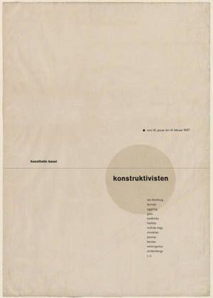 Die Konstruktivisten Exhibition Poster, 1927, Designed by Jan Tschichold