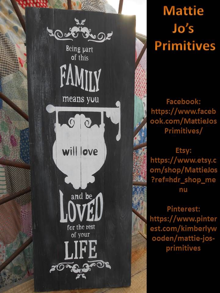 Family Wooden Sign, country, primitive, country primitive, primitive country, farm house, rustic