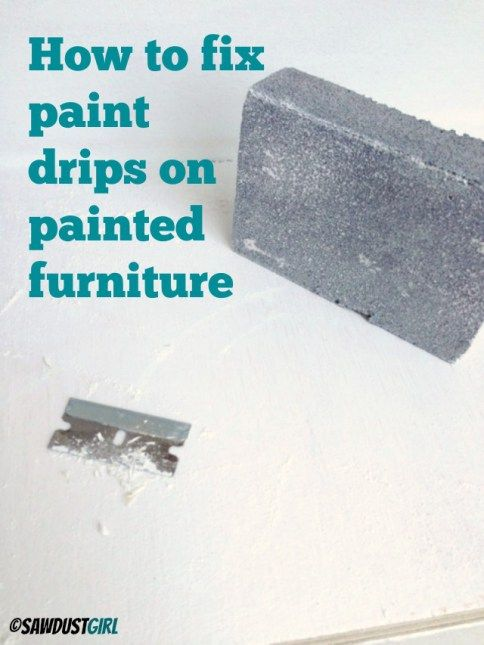 How To Fix Paint Drips On Cabinets