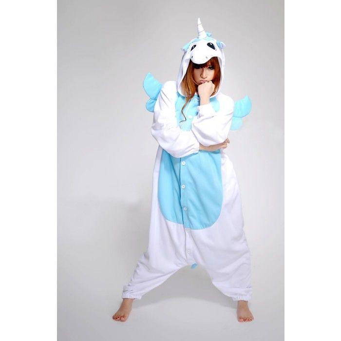 Blue Unicorn Onesie   Blue Unicorn Costume   Blue Unicorn Kigurumi   KiguTop.com