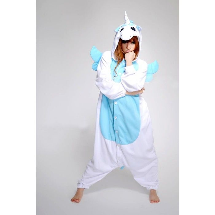 Blue Unicorn Onesie | Blue Unicorn Costume | Blue Unicorn Kigurumi | KiguTop.com