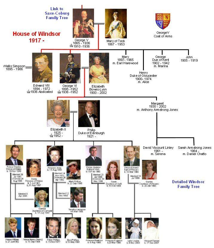 Windsor Family Tree Ideas Pinterest Trees The O
