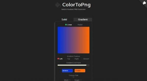 Un outil JavaScript en ligne pour générer un fond de site web - colortopng  L'aspect graphique a tendance a consommer beaucoup de temps pour le développeur.   Colortopng va vous permettre de générer des fichiers PNG à partir soit d'une couleur unique ou d'un gradient de couleurs.   http://noemiconcept.com/index.php/en/departement-communication/news-departement-com/207722-webdesign-un-outil-javascript-en-ligne-pour-g%C3%A9n%C3%A9rer-un-fond-de-site-web-colortopng.html
