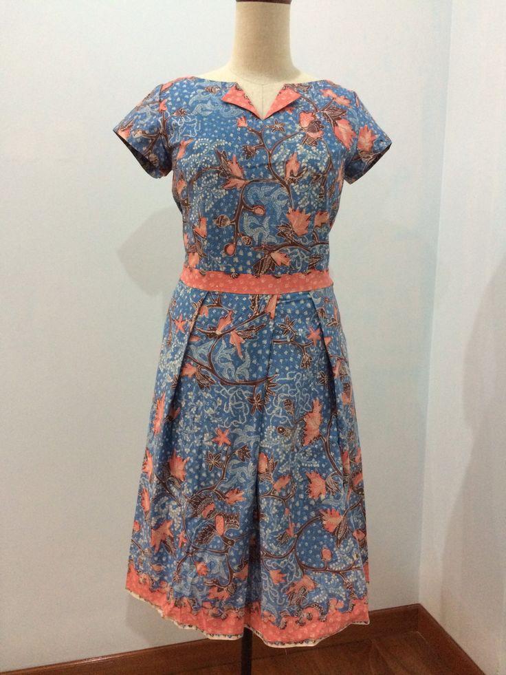 Dress made from batik tulis Lasem. Dress is made by Dongengan (Facebook: https://m.facebook.com/dongengan)