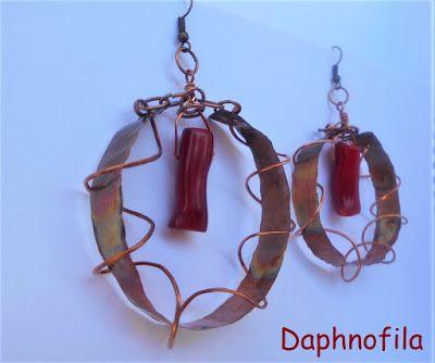 Τα daphnofila δημιουργούν: Σκουλαρίκια από χαλκό!