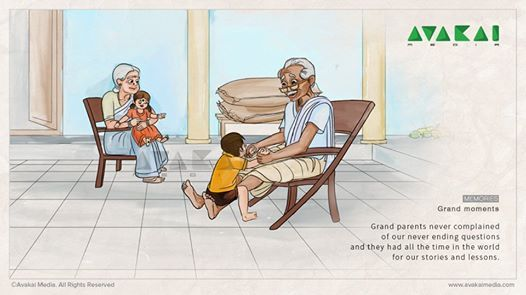 Grand moments  Grand parents never complained of our never ending questions and they had all the time in the world for our stories and lessons.