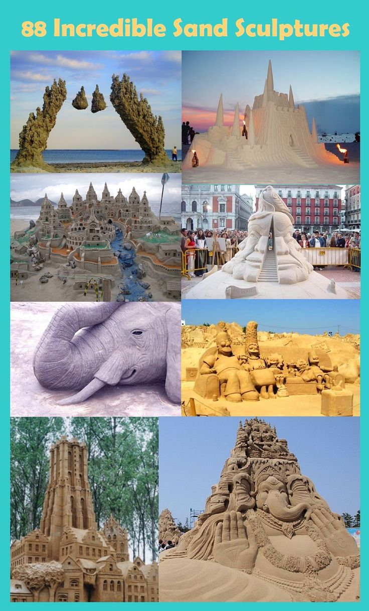 Such incredible sand sculptures!