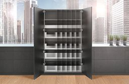 SPACE TOWER is flexible in height, width & depth & can be adjusted to your individual needs