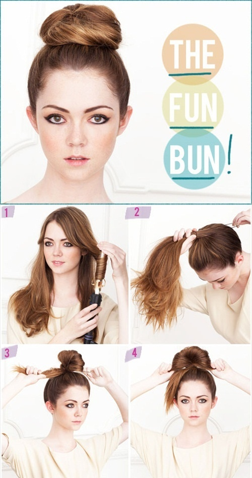 the fun bun / top knot hairstyle (photo via the beauty department) #hairstyles #wedding #hair
