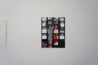 Don't tell anybody- floppy disk art by Dominik Jais