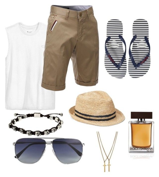 """""""Untitled #18"""" by alisha-marley on Polyvore featuring Champion, Tom Ford, Gap, Dolce&Gabbana, Havaianas, Cantini MC Firenze, Dsquared2, men's fashion and menswear"""