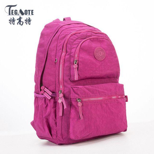TEGAOTE Backpack Women Fashion School Backpack for Teenage Girls Mochila  Feminina Escolar Bolsa Travel Backpack Female Sac A Dos   Products    Pinterest ... 9a57345e8e