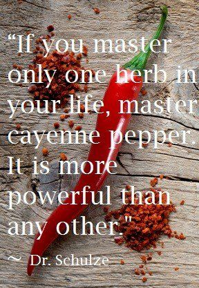 Cayenne Pepper is a miracle herb:  •	Stops heart attacks  •	Can hinder internal bleeding  •	Induces cancer cell death without harming other cells  •	Can improve digestive problems, cramping, & bloating or blood circulation  •	Speeds up the removal of toxins from your body  •	Can be added to first aid kit for its antiseptic & antibiotic qualities for cuts and burns.