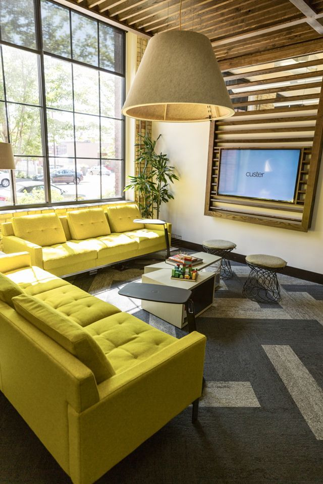 Coalesse Millbrae Lounge Seating at Custer 1st Floor Remodel