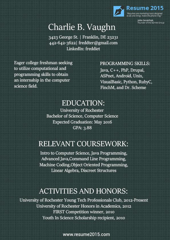 19 best Resume 2015 images on Pinterest | Sample resume, Best resume ...