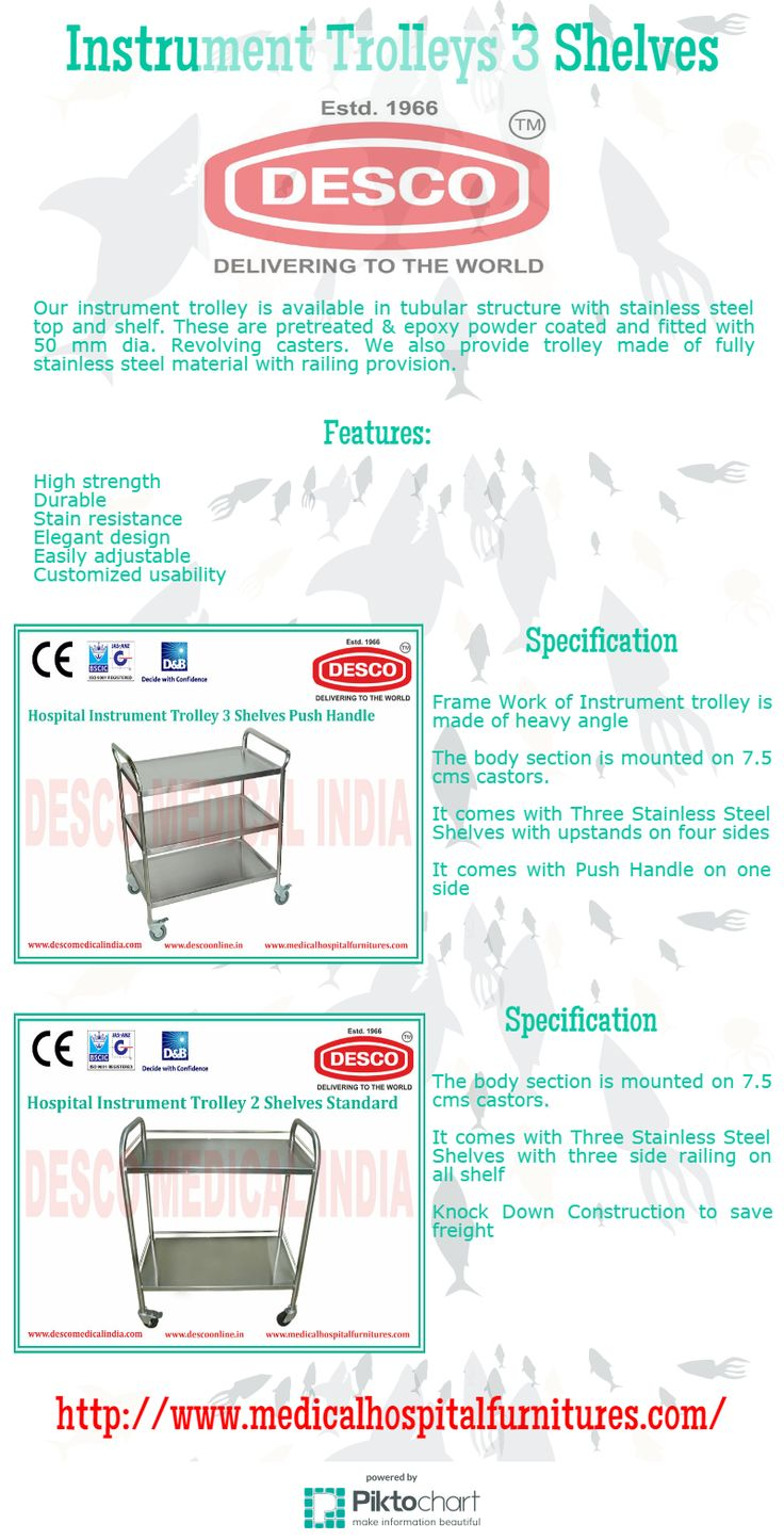 Our instrument trolley is available in tubular structure with stainless steel top and shelf.