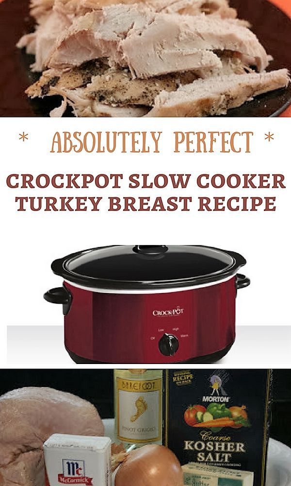 This is how you make a moist, delicious, crockpot slow cooker turkey breast. There is no need to figure out how to keep it juicy, the crockpot does all the work for you!