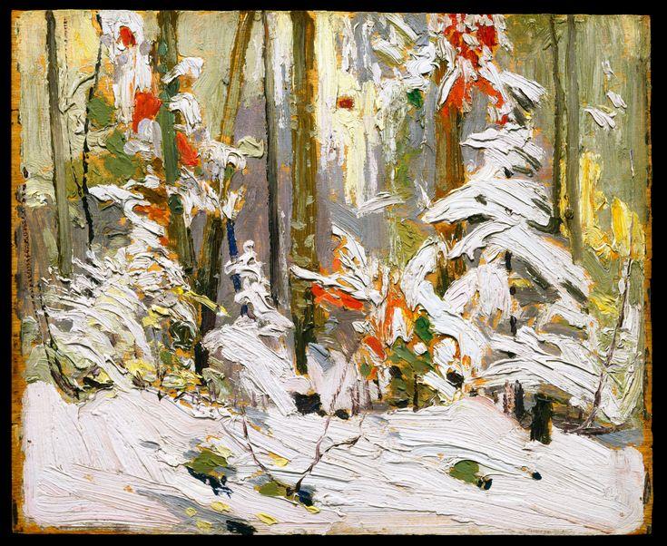 Tom Thomson Catalogue Raisonné | Wood Interior, Winter, Fall 1916 (1916.177) | Catalogue entry