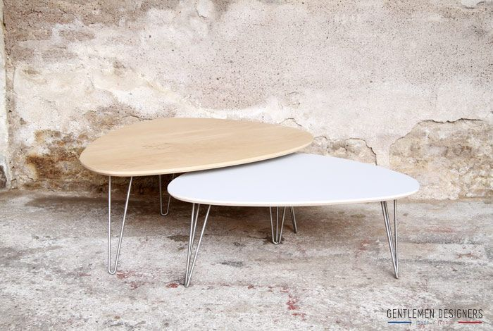 Table basse tripode gentlemen designers mobilier vintage made in france h - Table basse gigogne vintage ...