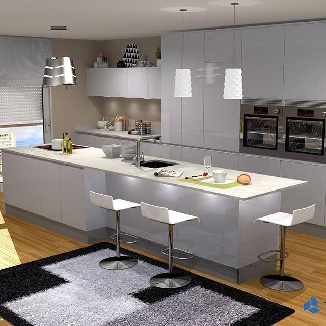 Interior design: kitchen by Teowin. Very intuitive and user friendly interface + high quality rendering. #cabinets #woweffect #teowin #woodworking #interiordesign #kitchen3d #kitchendesign #render3d #3drender #workshop #projetista #cozinha #cuisine #cocinas #agenceur #moveisdesign #architectedinterieur #diseñadordeinteriores #marcenariasobmedida #lojamoveis #furnituredesign #kitchencabinets #menuiserie #interiordesign #teowin #cuisiniste #architectedinterieur