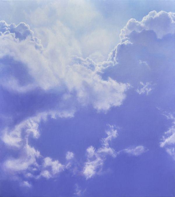 Sky, 80 x 90 cm, oil on canvas on Behance; christopheberle.ch