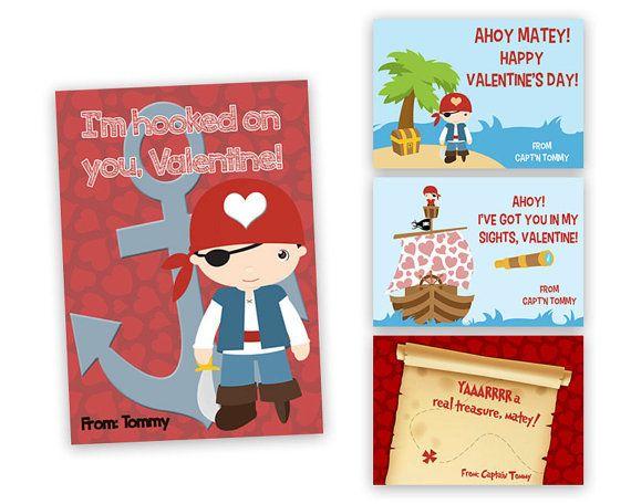 Items Similar To Pirate Valentines   Boys Classroom Valentines Day Cards    Pirates Valentineu0027s Cards   Ahoy Sailboat Valentine   Arrr Matey   Kids  Valentine ...