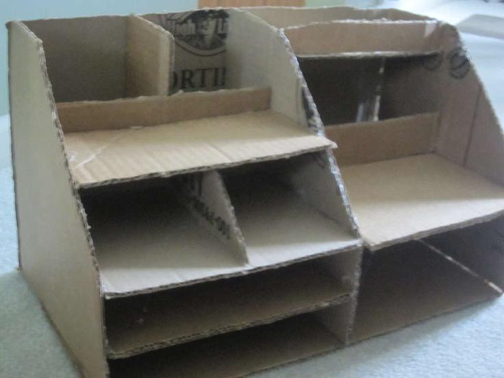 Cardboard Desk Organizer Desks Creative And Craft